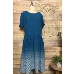 Lularoe Blue Polka Dot Ombre Cocktail Amelia Dress